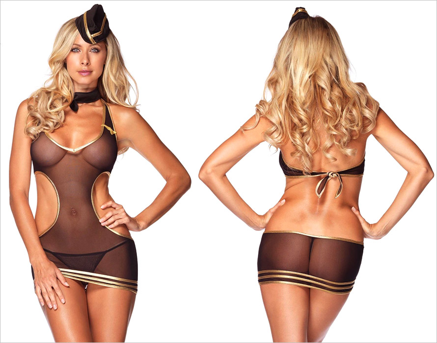 Leg Avenue Sexy Stewardess Costume (S/L)
