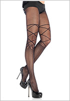 Leg Avenue Collant Micro Net - Noir (S/L)