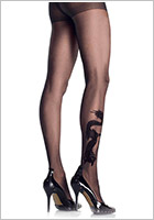 Leg Avenue Dragon Tattoo Sheer Feinstrumpfhose - Schwarz (S/L)