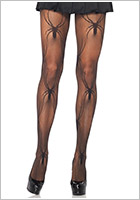 Leg Avenue Collant Micro Net Black Widow - Noir (S/L)