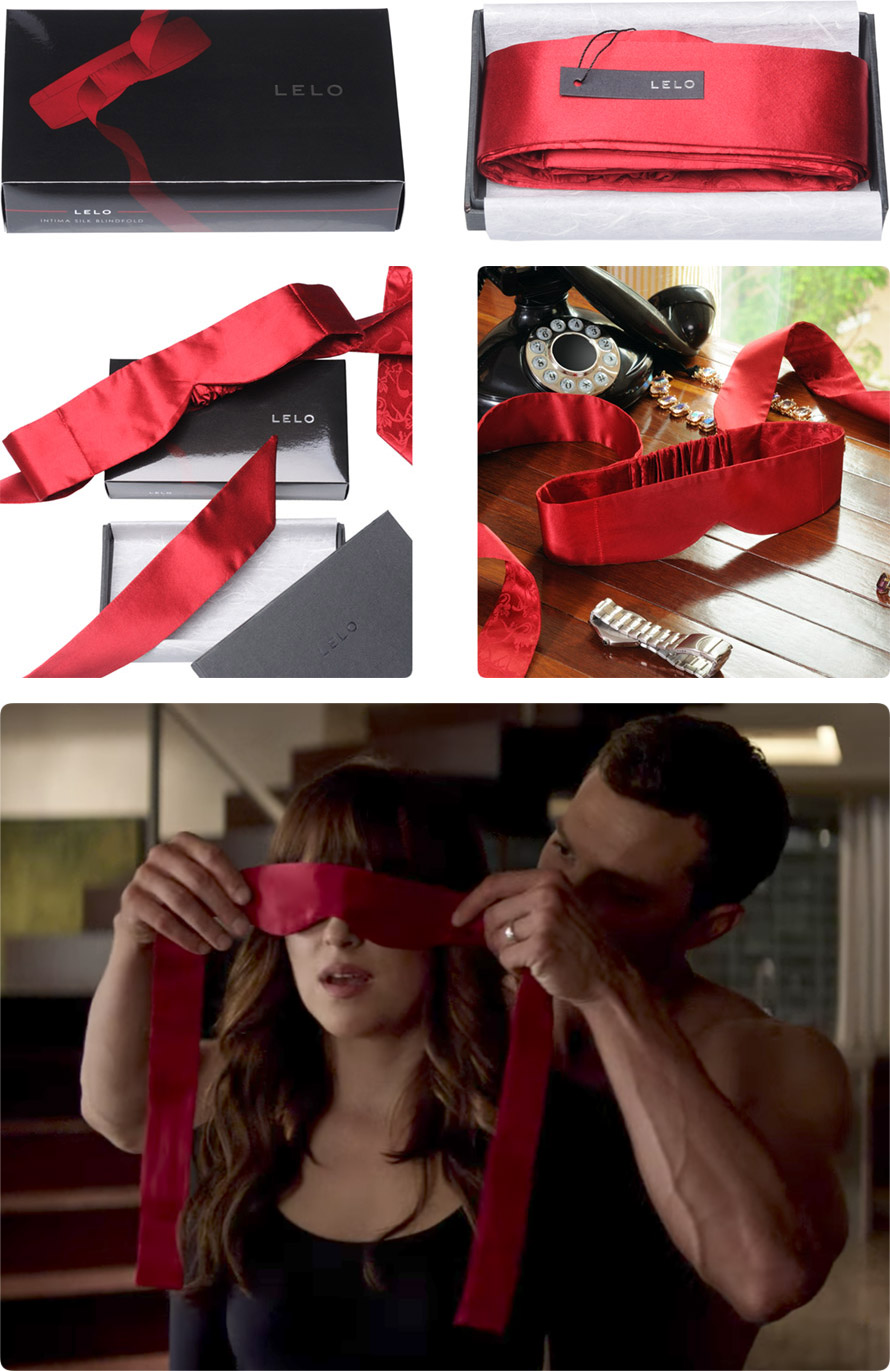 LELO Intima Silk Blindfold - Red