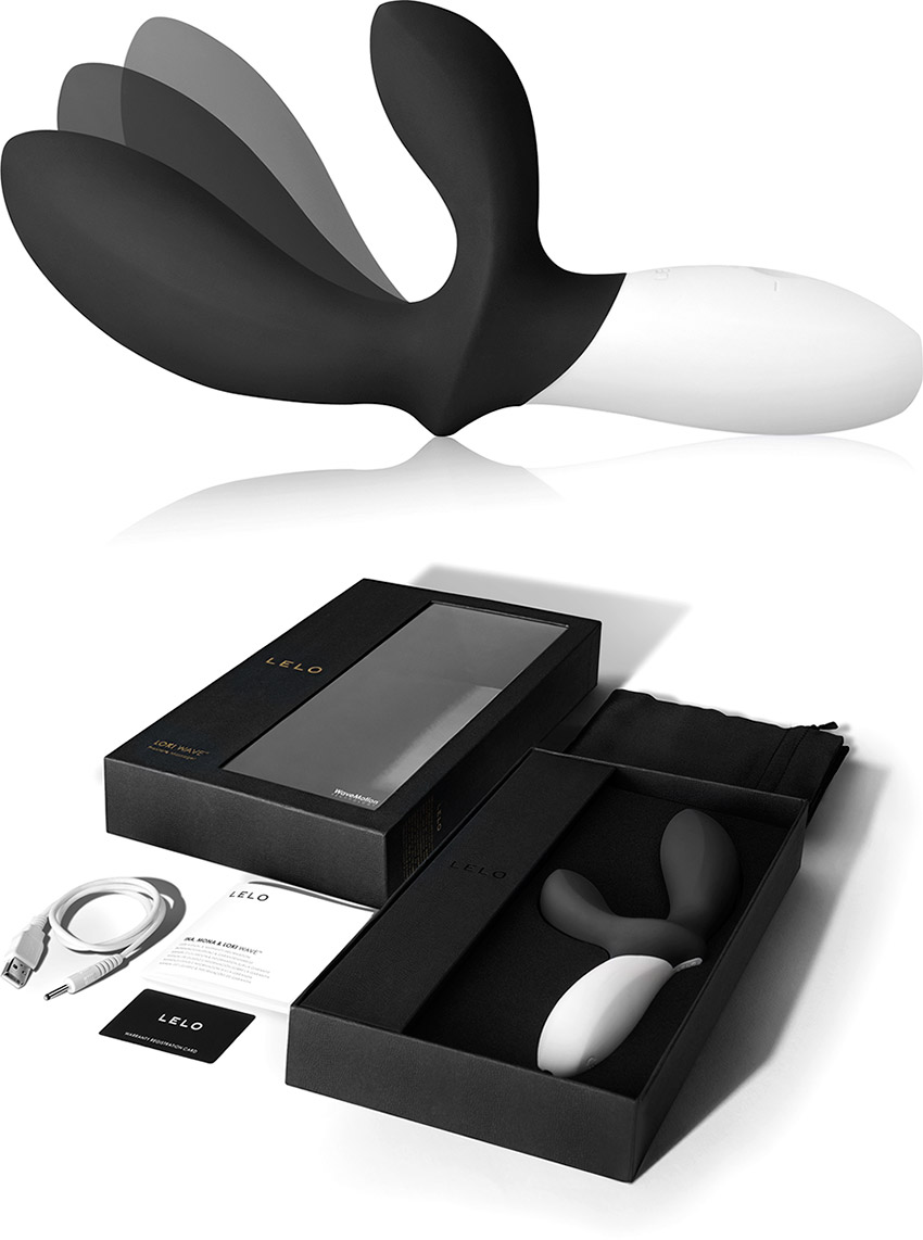 LELO Loki Wave Prostate Massager - Black