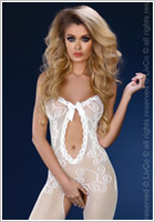 LivCo Corsetti Bodystocking Magali - Weiss (S/L)
