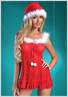 LivCo Corsetti Christmas Bell Weihnachts-Chemise & String (S/M)