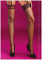 LivCo Corsetti Holly fishnet stockings - Black (S/M)