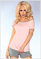 LivCo Corsetti sexy Pyjama outfit 103 - Pink and Grey (L/XL)