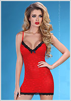 LivCo Corsetti Nuisette & String Hot Love - Rouge (L/XL)