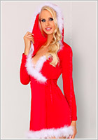 LivCo Corsetti Monisa Christmas dressing gown and g-string (L/XL)