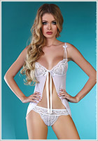 LivCo Corsetti Waseme Babydoll & String - Weiss (S/M)