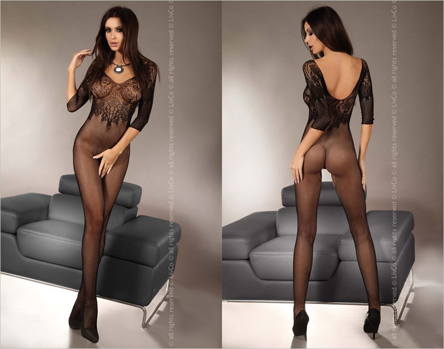 LivCo Corsetti Bodystocking Josslyn - Black (S/L)