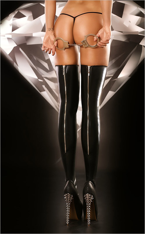 Lolitta Rock Stockings - Black (L/XL)