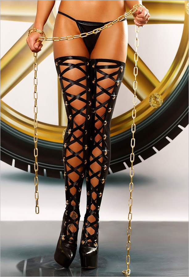 Lolitta Bizarre Stockings - Black (S/M)