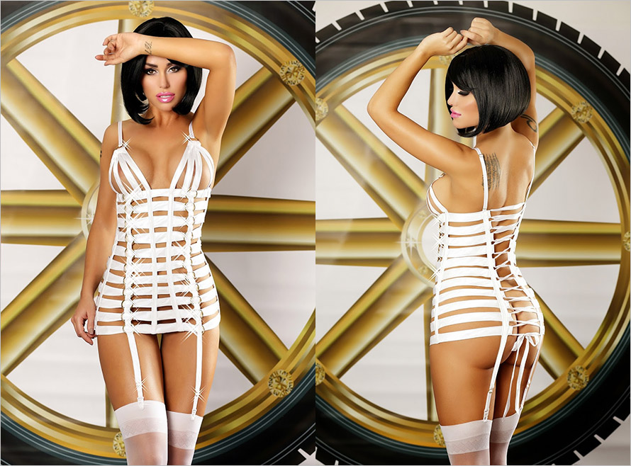 Lolitta Mystery Mini Dress - White (L/XL)