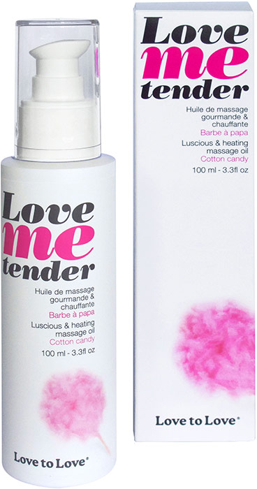 Love to Love Luscious & Warming massage oil - Cotton candy