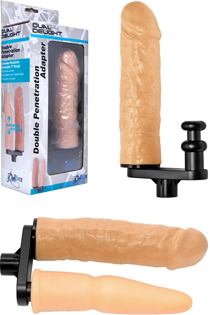 LoveBotz Dual Delight Double Penetration Attachment