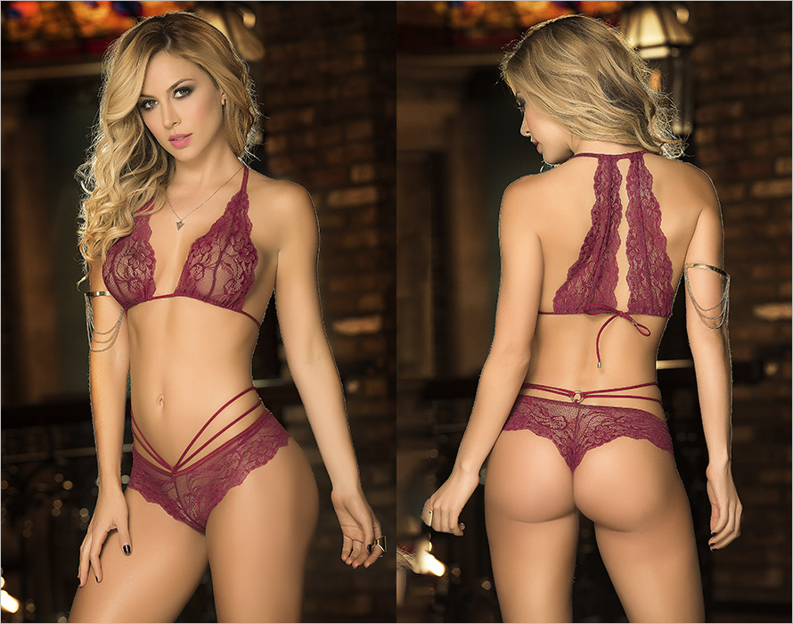 Mapalé 8193 Set  - Bordeaux (S/M)