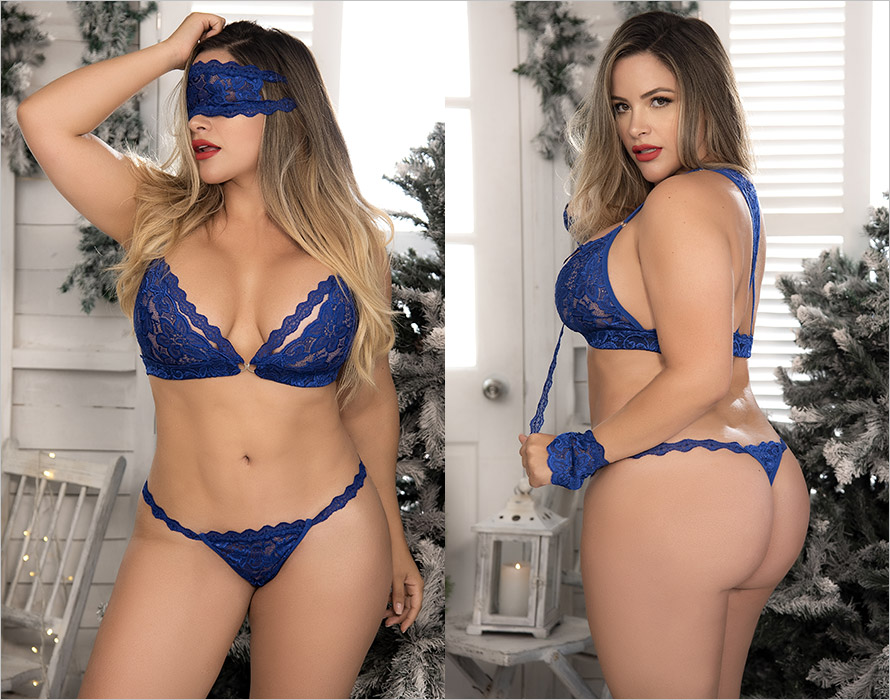 Mapalé 8218 set - 4 pieces - Blue (XL/XXL)