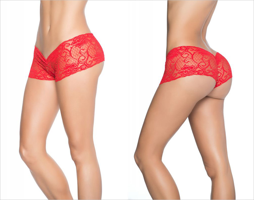 Mapalé Shorty ouvert Peek-a-boo 98 - Rouge (S)