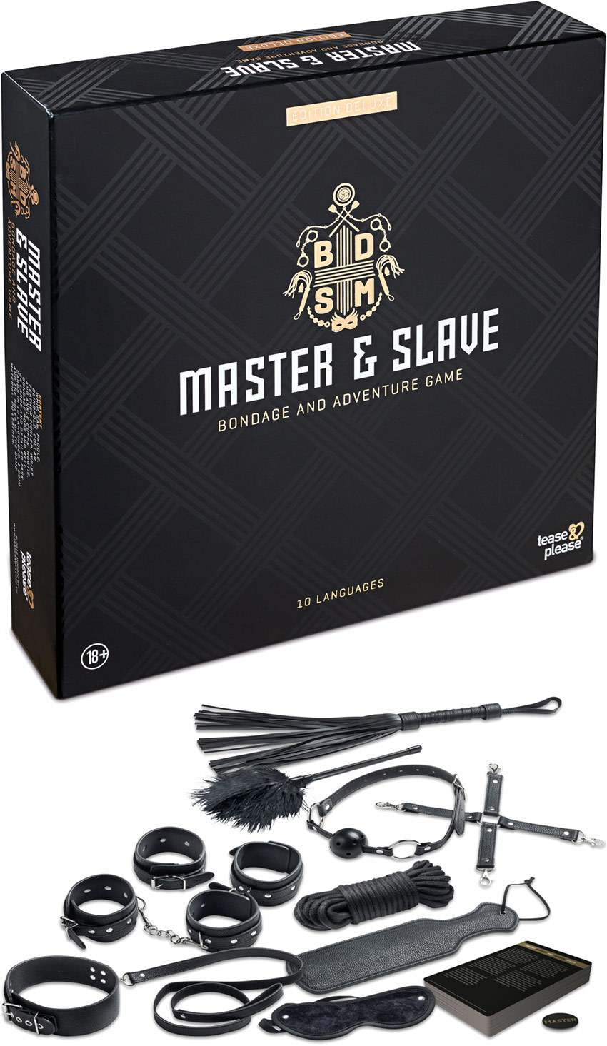 Master & Slave game & bondage accessories (for couples) - Deluxe