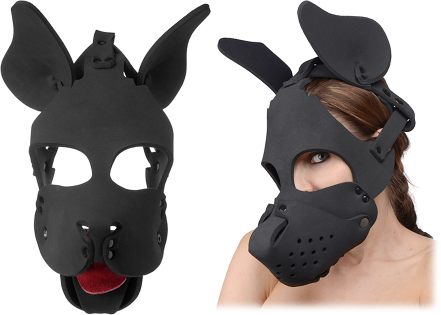 Master Series Dog Hood dog mask with removable muzzle