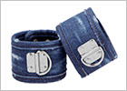 Manette per polsi in denim Ouch! - Blu