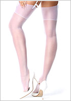 MissO S301 classic stockings - White (S/M)