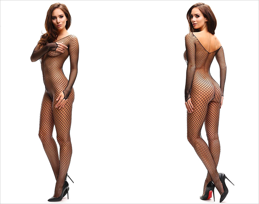 MissO B700 fishnet bodystocking - Black (S/L)