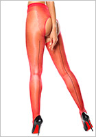 MissO P211 open crotch pantyhose - Red (L/XL)