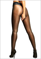 MissO P105 open crotch pantyhose - Black (S/M)
