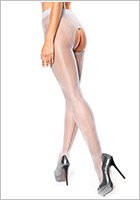 MissO P211 open crotch pantyhose - Silver (S/M)
