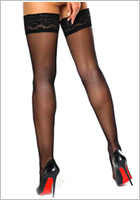 MissO S305 Stay-up stockings - Black (L/XL)