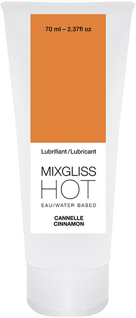 Lubrifiant MixGliss HOT Cannelle - 70 ml (à base d'eau)
