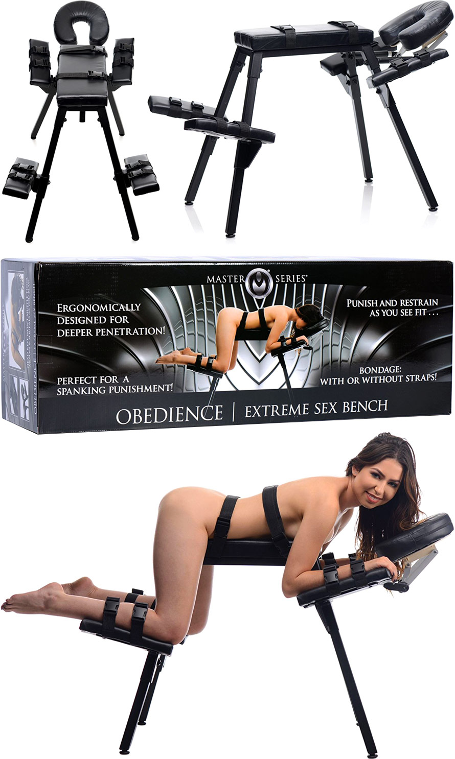 Master Series Obedience Extreme Sex Bench With Restraint Straps Bondage