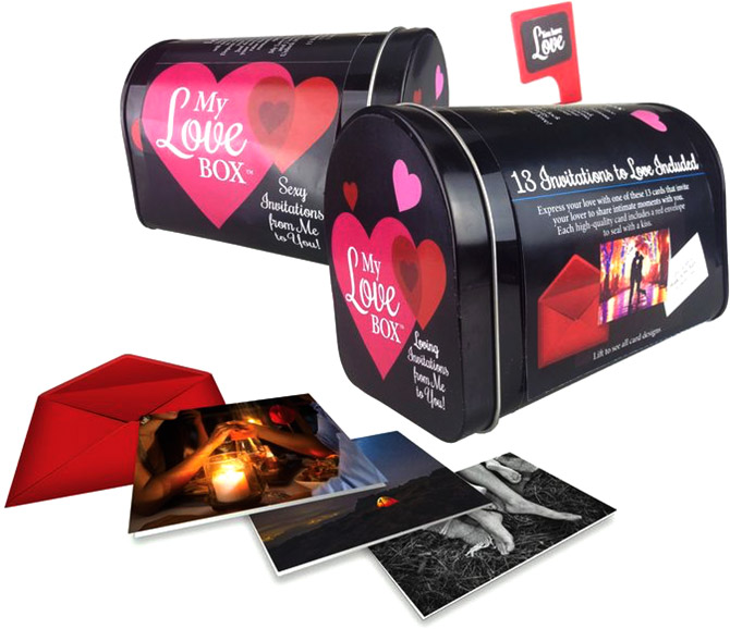 My Love Mailbox letterbox with romantic cards