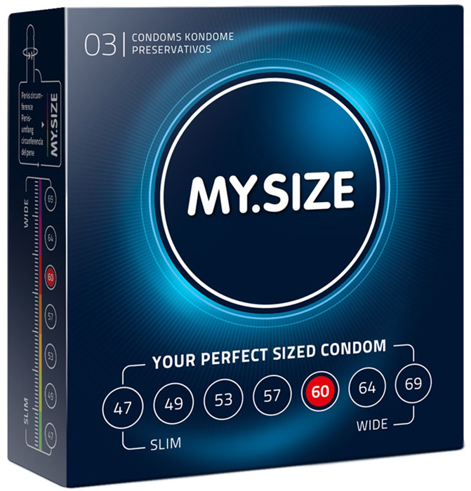 My Size Custom Fit Condoms - Size 60 (3 Condoms)