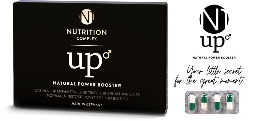 N1 UP Natural Power Booster - Natural sexual stimulant - 4 tablets