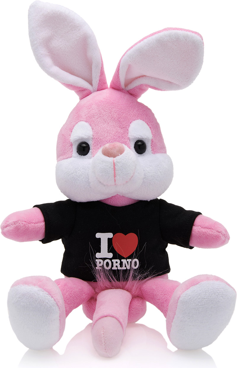 Naughty Bunny Plush - Black