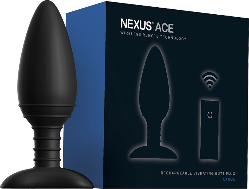 Nexus Ace Remote Control Vibrating Butt Plug (L)