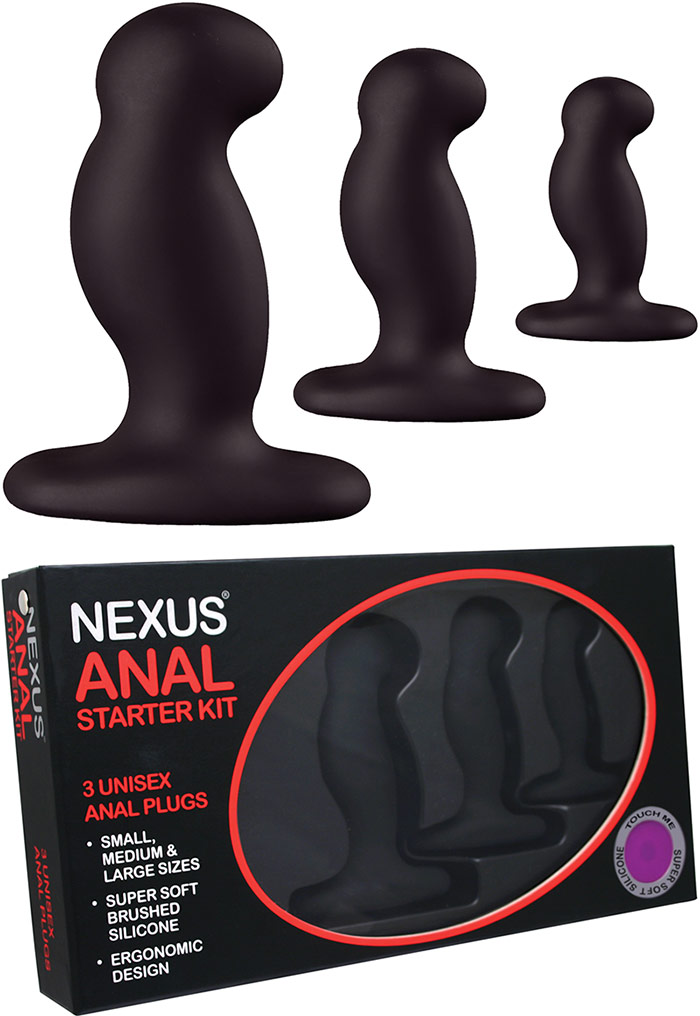 Nexus Anal Starter Kit (3 plugs anaux)