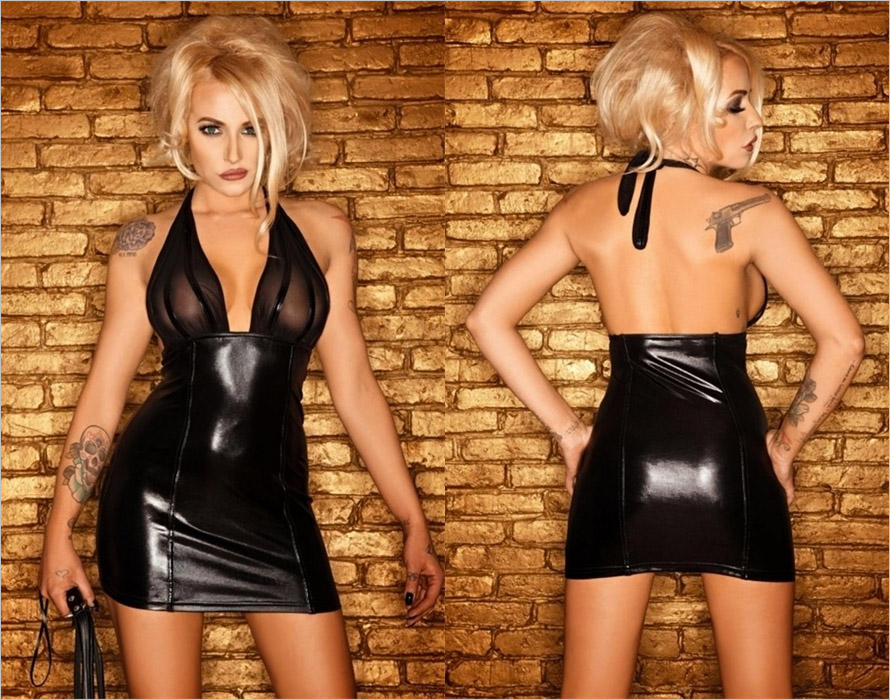Noir Handmade Clubwear F058 mini dress - Black (S)
