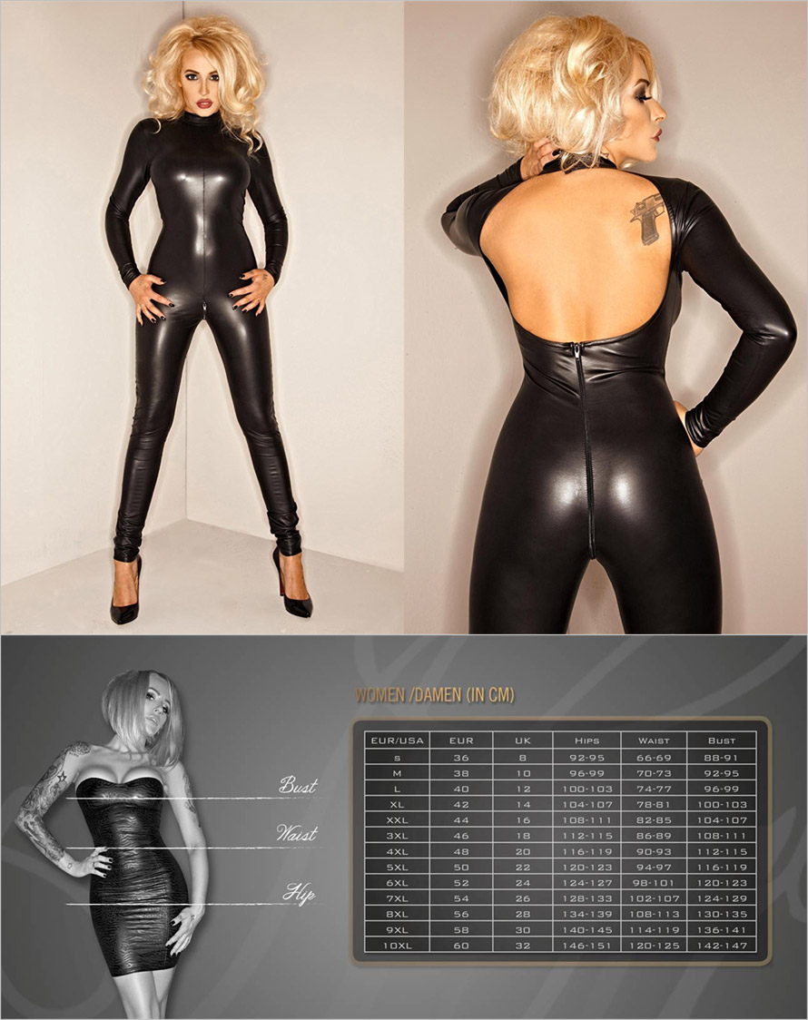 Noir Handmade F052 Overall Wetlook outfit - Black (XL)