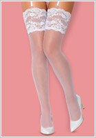Obsessive 810 Stockings - White (S/M)