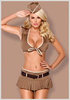 Obsessive 814-CST-4 Sexy Soldier Costume (S/M)