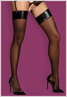 Obsessive Darkie Stockings - Black (L/XL)