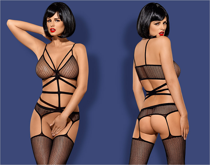 Obsessive Bodystocking N114 - Black (S/M/L)
