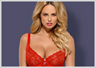 Obsessive Nuisette & String Heartina - Rouge (L/XL)