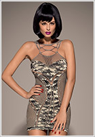 Obsessive D604 Kleid - Camouflage (S/M/L)