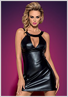 Obsessive Darksy Dress & Thong - Black (L/XL)