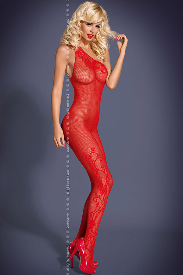 Obsessive Bodystocking F203 - Rouge (S/M)