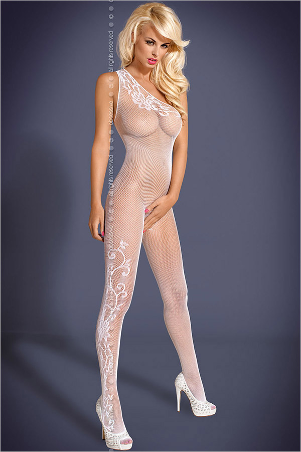 Obsessive Bodystocking F203 - White (S/M)